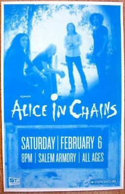 ALICE IN CHAINS Gig POSTER Feb 2010 Salem Oregon Concert