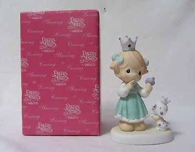 Precious Moments Too Dog-Gone Sweet Girl With Puppy  Porcelain Figurine Mib