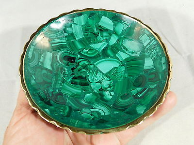 A Deep Green! Malachite Bowl With a Super Neat Pattern! From the Congo 263gr e