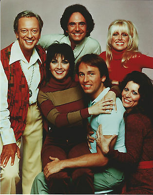Three's Company Cast 8 X 10 Photo With Ultra Pro Toploader