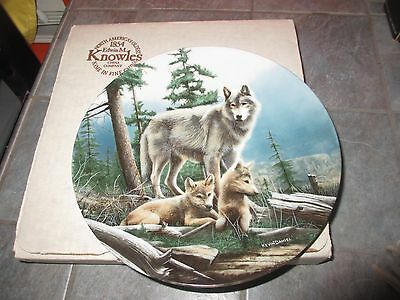 """"""" FIRST OUTING  """" CALL OF THE WILDERNESS WOLF by Kevin Daniel Knowles Plate"""