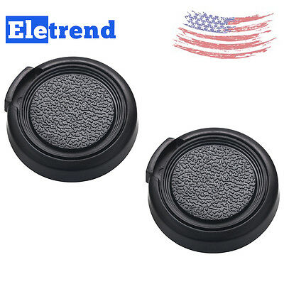 2 Pcs 30.5mm Center Pinch Snap-on Camera Lens Front Cap Cover