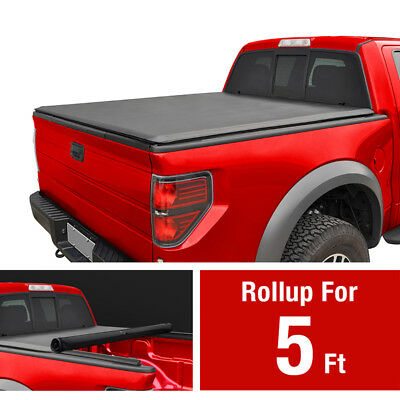Premium Roll & Lock Tonneau Cover For 2015-2017 Colorado Canyon 5' Short Bed