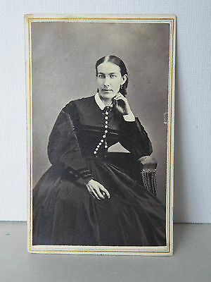 Fine Antique Collectible Of A B&w Photo Of A Woman By R.a. Miller, Boston, Ma.