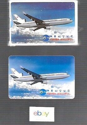 China Airlines Taiwan R.o.c. Playing Cards Md-11 Delivery Livery