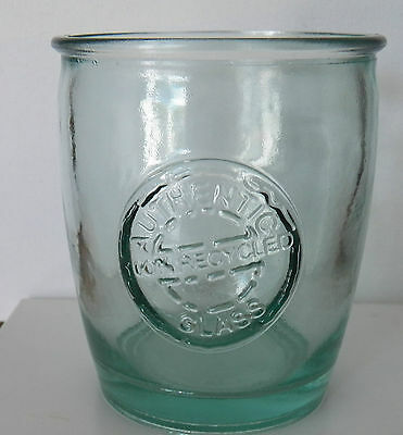 Fine Authentic 100% Recycled Glass Bluish Green Tinge Made In Spain V.san Miguel