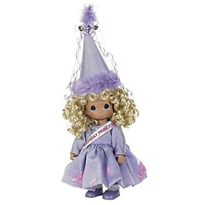 "Precious Moments 12"" Happy Birthday Princess Vinyl Doll blonde by Linda Rick NEW"