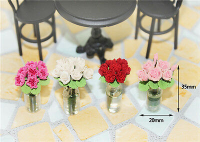 1:12 dollhouse miniature Puppenhaus accessories mini bottle of rose toy girl gif