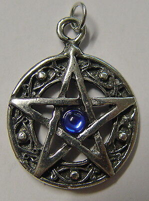 PROTECTED LIFE BLUE PENTAGRAM AMULET Wicca Pagan Witch Goth PROTECTION