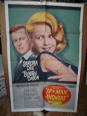IF A MAN ANSWERS, orig 1-sh / movie poster (Sandra Dee, Bobby Darin) -1962