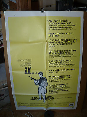 IF, orig 1-sh / movie poster (Malcolm McDowell) -1969 -- X-RATED