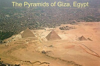 Aerial View of the Giza Pyramids & Necropolis, Egypt, Great Pyramid --- Postcard