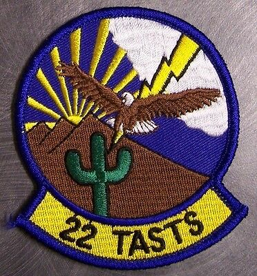 Embroidered Military Patch USAF Air Force 22nd TASTS Tactical Support NEW
