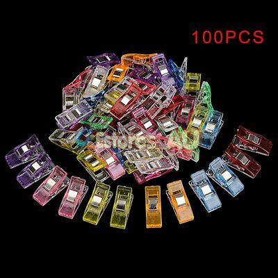 100Pcs Plastic Pack Wonder Clips Fr Quilting Sewing Knitting Crochet Craft Tools