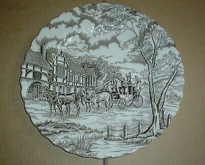 Myott Of Staffordshire ROYAL MAIL Dinner Plate Brown And White