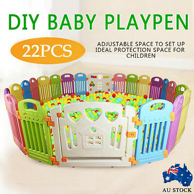 Big Square Interactive Kid Baby Room Safety Game Playpen Fence 2.3*2.3m indoor