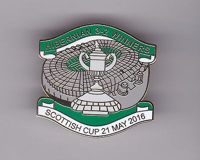 "Hibernian ""3-2 Winners - Scottish Cup 2016""  - lapel badge"