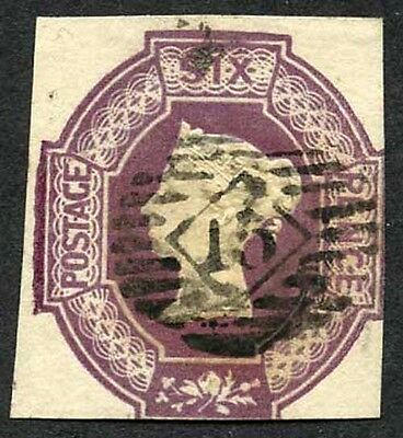 SG59 6d Dull Lilac Embossed Very Fine Used