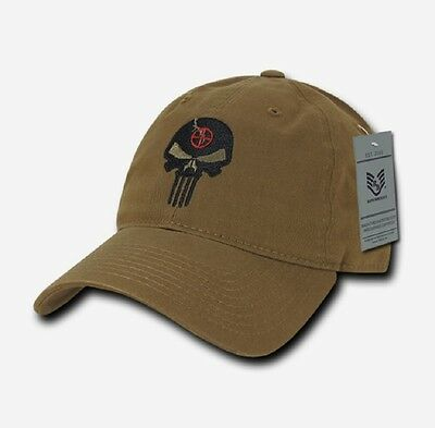 US RapDom Punisher CRAFT Skull Relaxed Graphic Cap Mütze Coyote