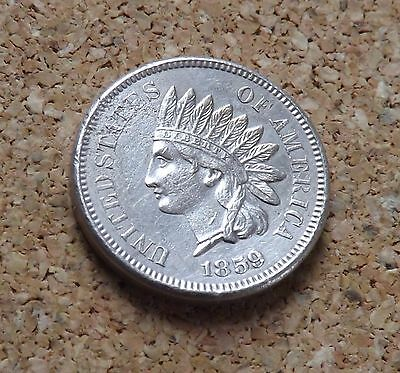 Usa Indian Head 1859 Cent Nice Grade(Freepost)Bh/72
