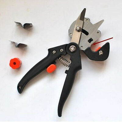 Professional Garden Tree Pruning Shears Grafting Kit Cutting Tool+2 Extra Blades