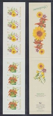 Lithuania 2005 - Fiori - Flowers - L. 8 - Libretto Booklet Mnh