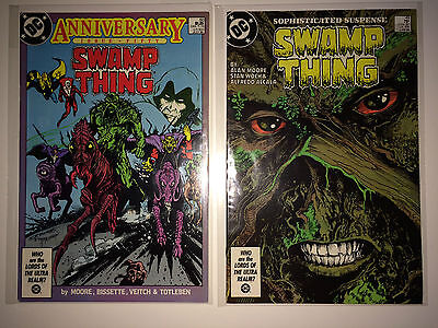 Swamp Thing #49, 50 1st Dark Justice League VFN/NM