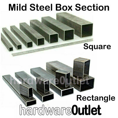 Mild Steel SQUARE BOX Section -  60, 70, 75, 80, 90 & 100mm Bandsaw Cut Sizes