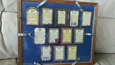 Ancesters 1997, The Millennium Coin Collection In Glass Frame  Rare