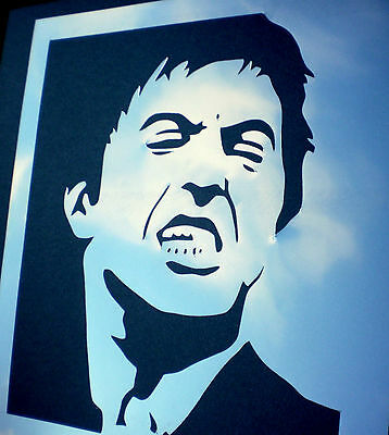high detail airbrush stencil scarface three FREE UK POSTAGE