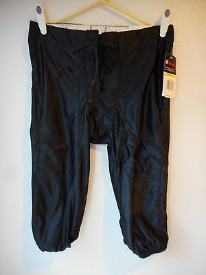 "New Wilson Size Xlarge Youth Football Tie Pant Black Elastic 32""w 25""l"