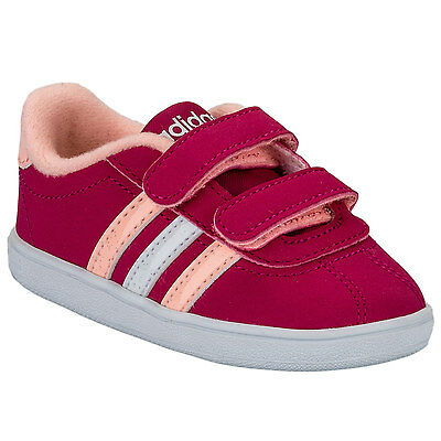 Girls adidas NEO Infant Girls VL Court Trainers in Pink - 2 infant