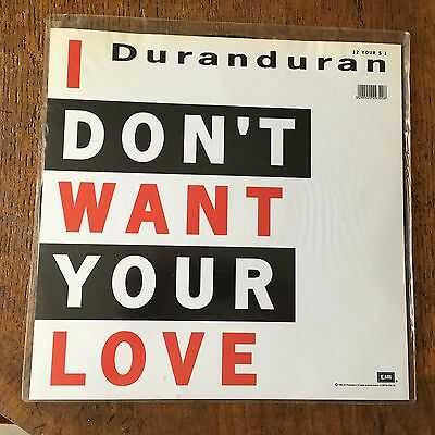 Duran Duran Etched Vinyl 12 Inch Single I Don't Want Your Love 12 YOURS S 1