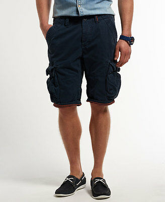 New Mens Superdry New Core Cargo Lite Shorts Night