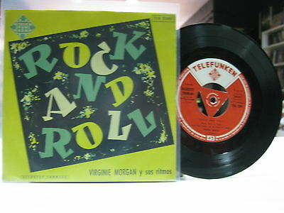 "Virginie Morgan 7"" Ep Spanish Rock, Rock + 3. 195X ""rock And Roll"""