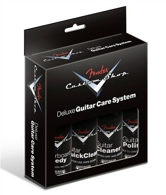 Genuine Fender Custom Shop 4-Step Deluxe Guitar Cleaning Kit, 099-0539-000