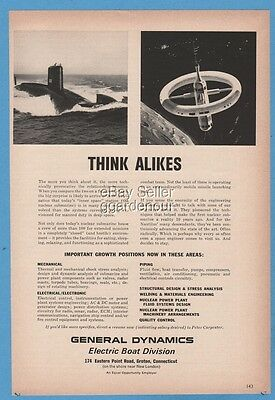 1965 General Dynamics Electric Boat Division Groton CT USS Daniel Webster sub Ad
