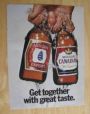 1122 Vintage Magazine ad: Molson Canadian Lager Beer 1979