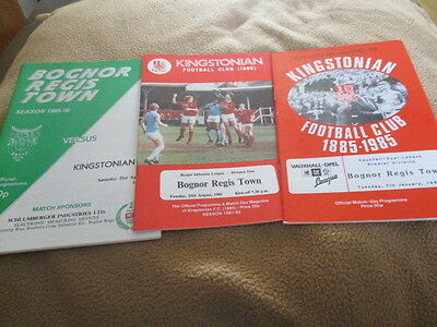 3  Kingstonian  V  Bognor  Regis  Town  Diff  Years