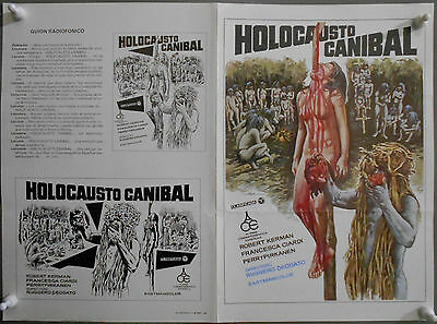 G7576D CANNIBAL HOLOCAUST RUGGERO DEODATO original spanish pressbook
