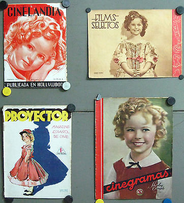 G5669 SHIRLEY TEMPLE collection of  4 vintage spanish magazines
