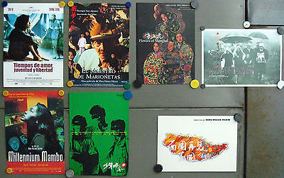 G5510 HOU HSIAO HSIEN collection of 7 original spanish pressbook