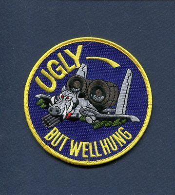 REPUBLIC A-10 THUNDERBOLT II UGLY WELL HUNG WARTHOG USAF Squadron Patch