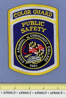 ANNE ARUNDEL COMMUNITY COLLEGE COLOR GUARD MARYLAND School Campus Police Patch
