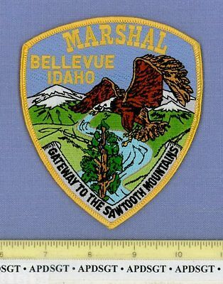 BELLEVUE MARSHAL IDAHO ID Sheriff Police Patch GATEWAY TO SAWTOOTH MOUNTAINS