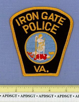IRON GATE VIRGINIA VA Sheriff Police Patch STATE SEAL