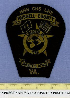 RUSSELL COUNTY SHERIFF ~ SWAT ~ VIRGINIA VA Police Patch HIGH SCHOOL CAMPUS