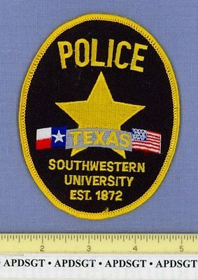 TEXAS SOUTHWESTERN UNIVERSITY • GEORGETOWN TX School College Campus Police Patch