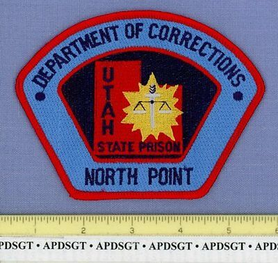 UTAH STATE PRISON DOC NORTH POINT UNIT DEPT OF CORRECTIONS Sheriff Police Patch