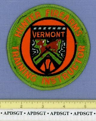VERMONT DNR HUNTER FIREARMS INSTRUCTOR VT State Police Patch NATURAL RESOURCES